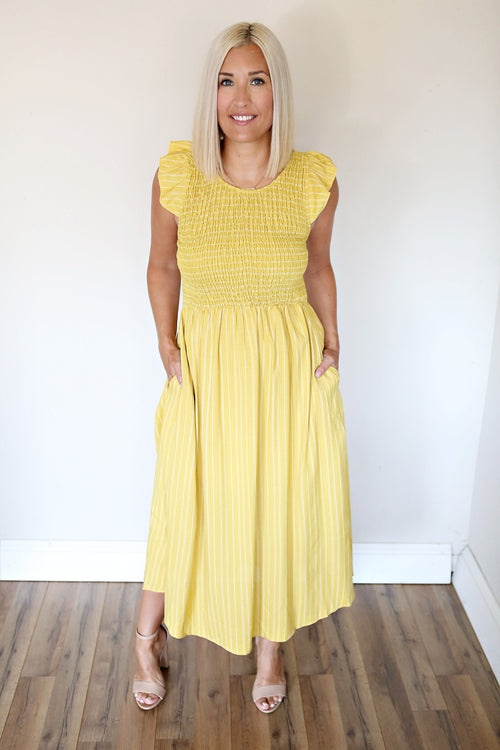 ZAndrea Dress - Mustard - FINAL SALE - Gray Monroe