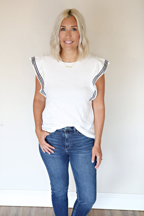 Olivia Top - FINAL SALE - Gray Monroe