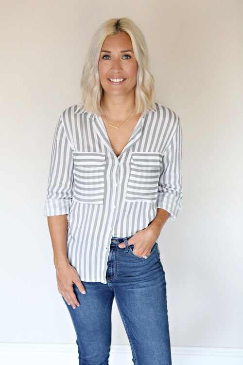 Dana Top - FINAL SALE - Gray Monroe