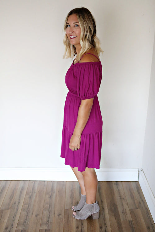 Bailey Dress - Magenta (TAKE 75% OFF WITH CODE 'FALLBREAK')