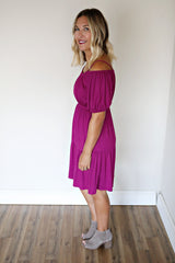 Bailey Dress - Magenta - FINAL SALE