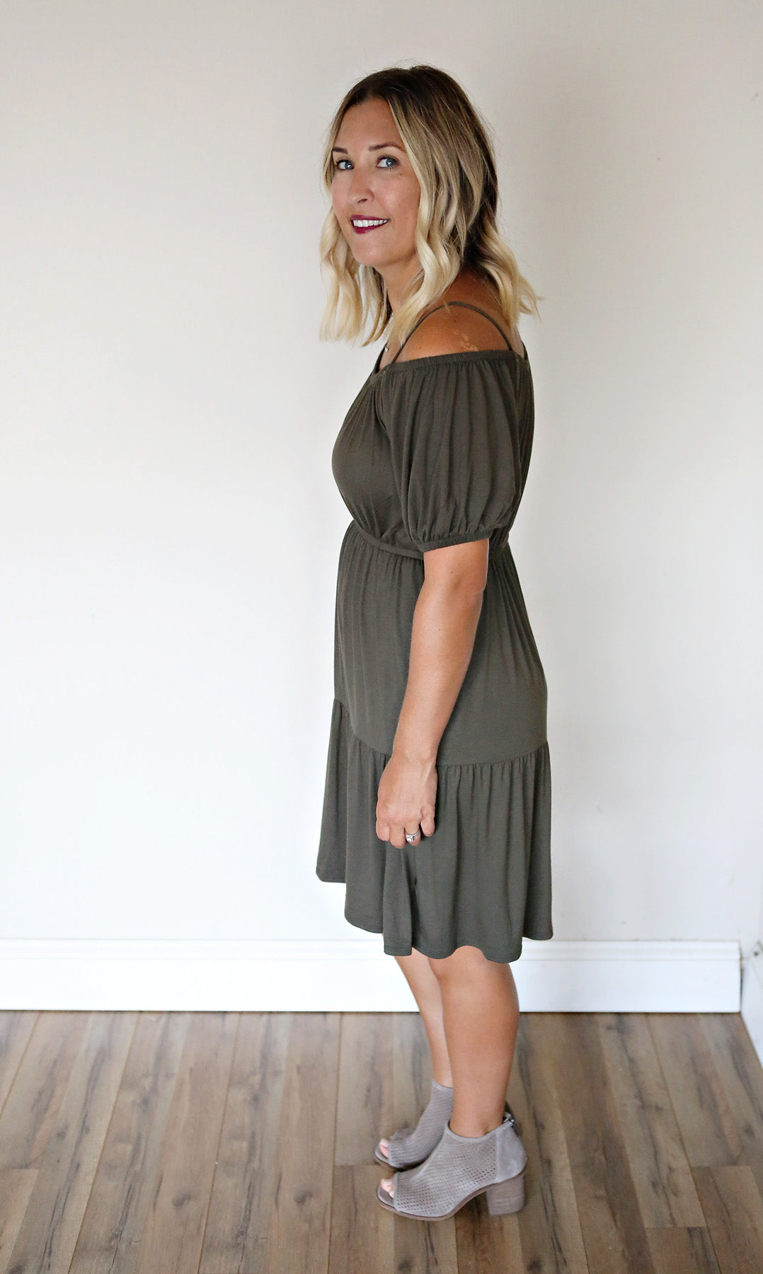 Bailey Dress - Olive - FINAL SALE