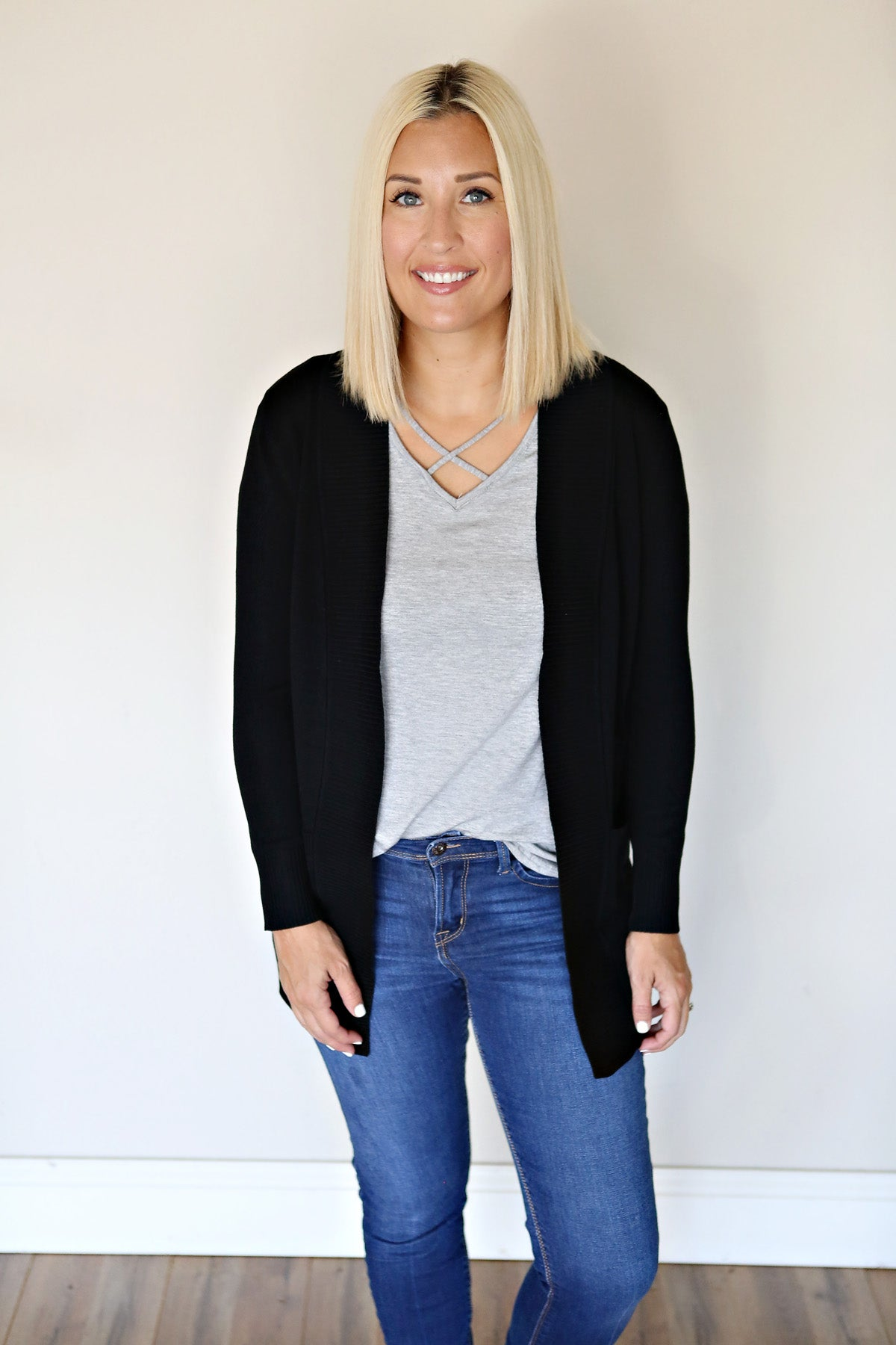 Kosten Cardigan - Black - Gray Monroe