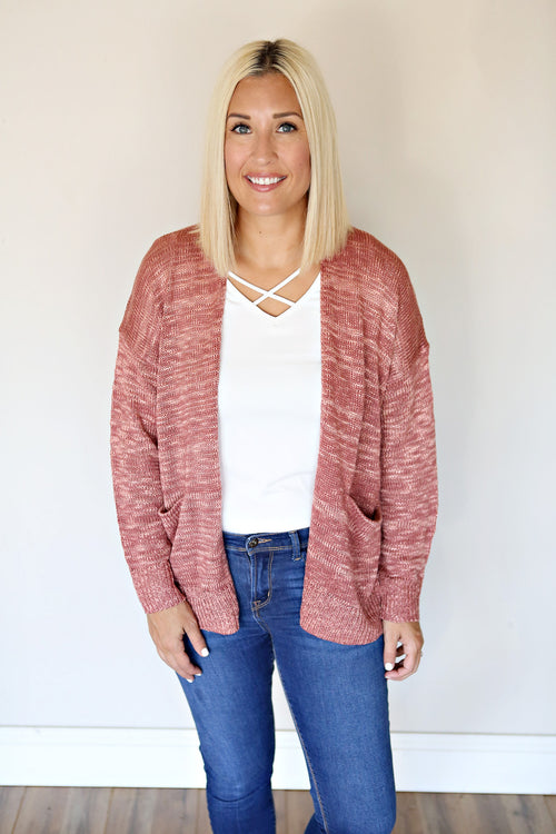 Kinsley Cardigan - Mauve - Gray Monroe