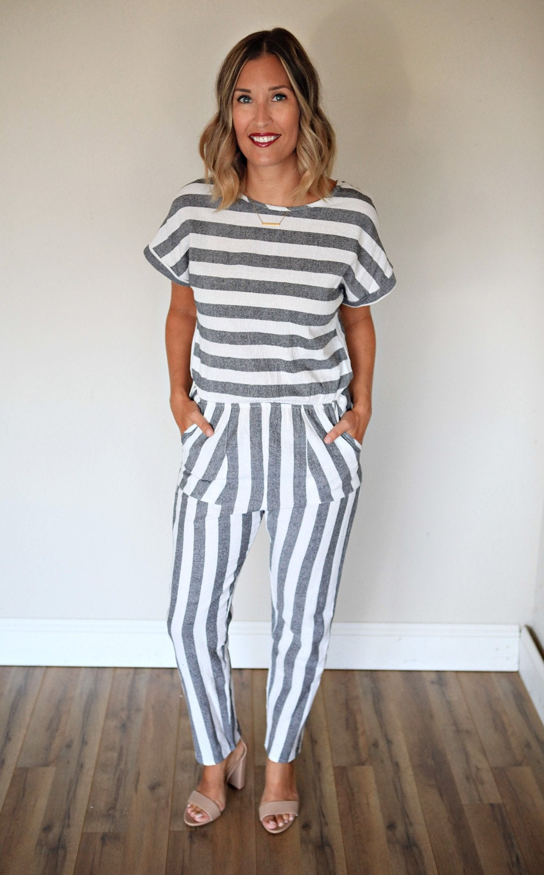 Carolina Jumpsuit - Gray Monroe