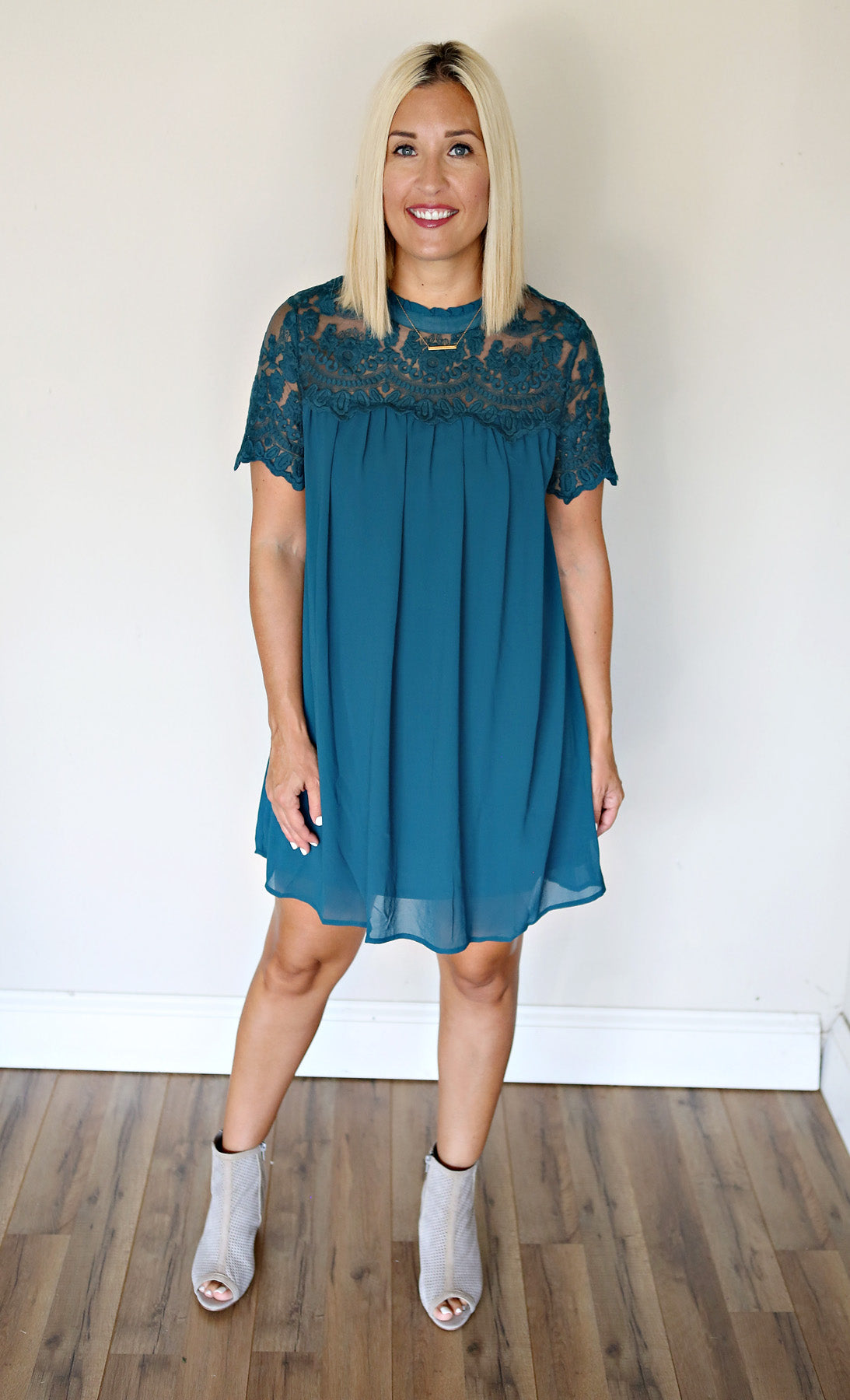 Jasper Dress - Green - Gray Monroe