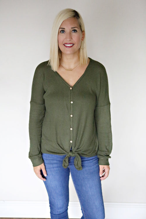 Reese Top - Olive - Gray Monroe