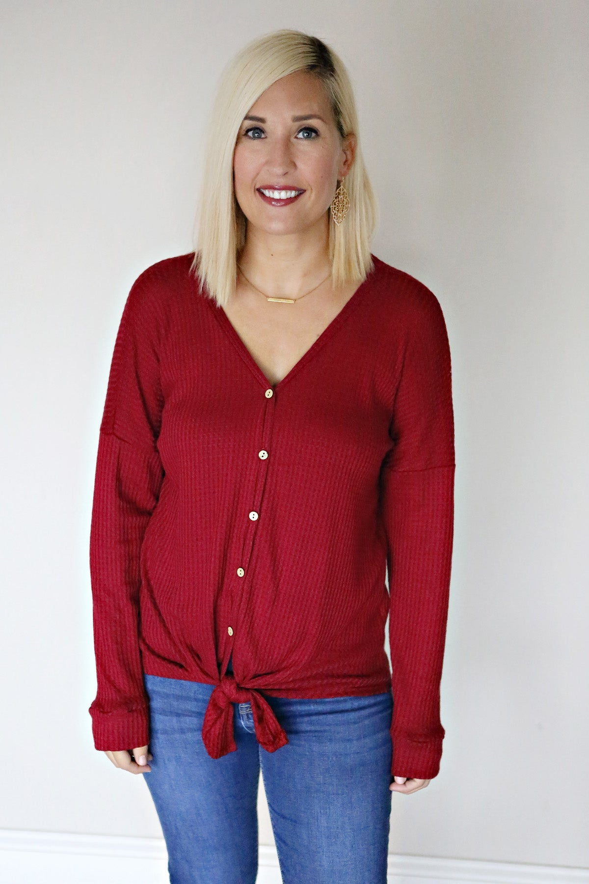 Reese Top - Wine - FINAL SALE - Gray Monroe