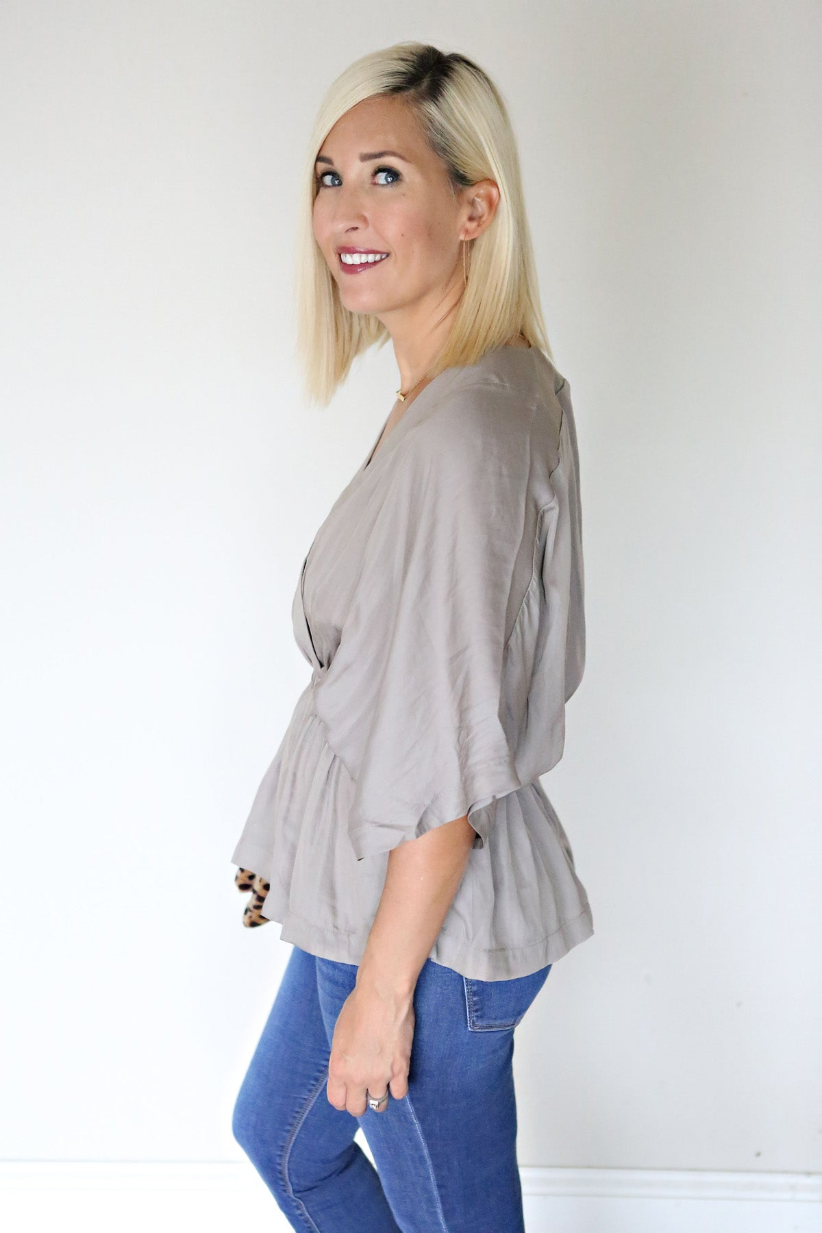 Camilla Top - FINAL SALE - Gray Monroe