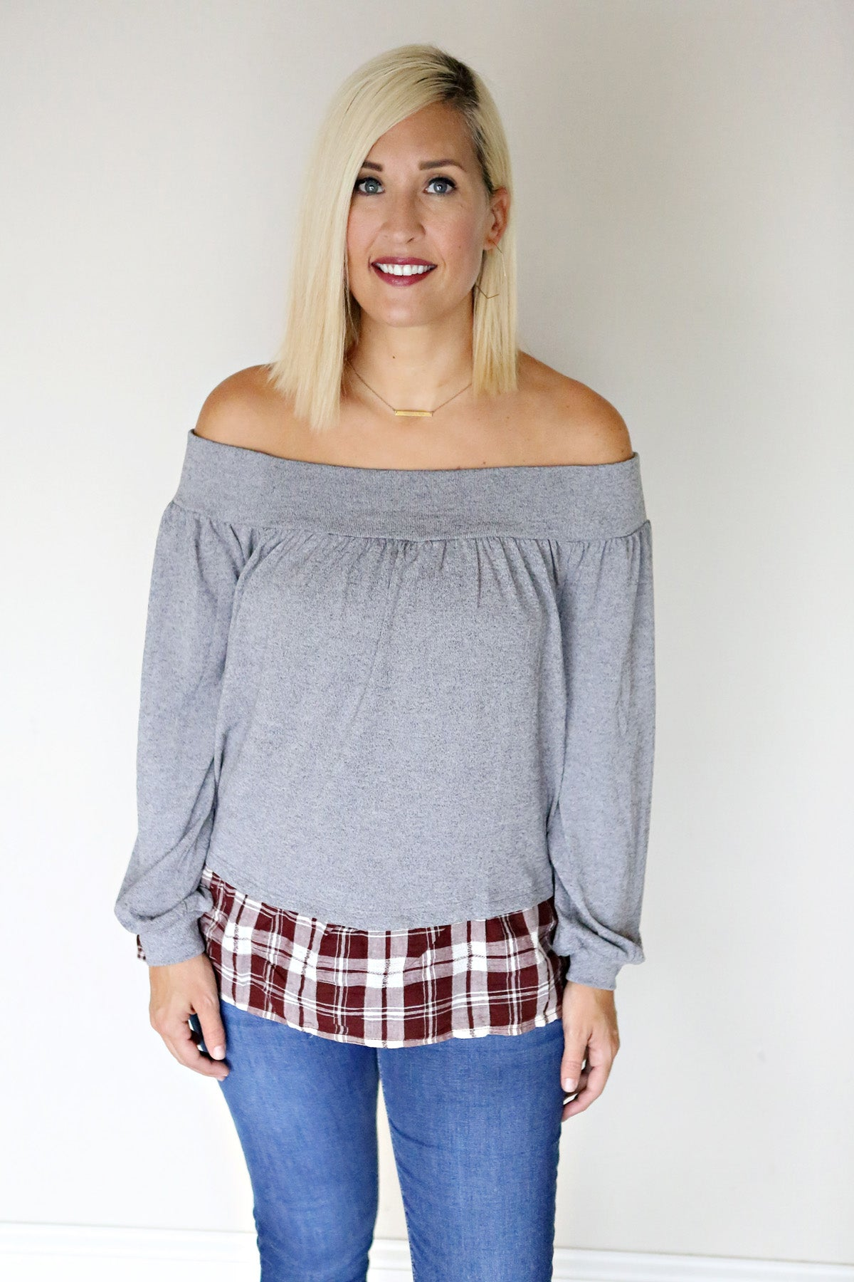 Bodhi Top - FINAL SALE - Gray Monroe