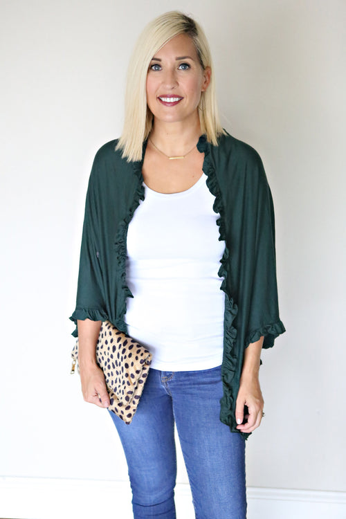 Jude Cardigan - Green - Gray Monroe