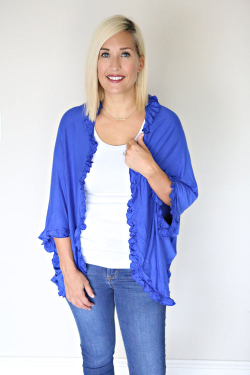 Jude Cardigan - Royal Blue - Gray Monroe
