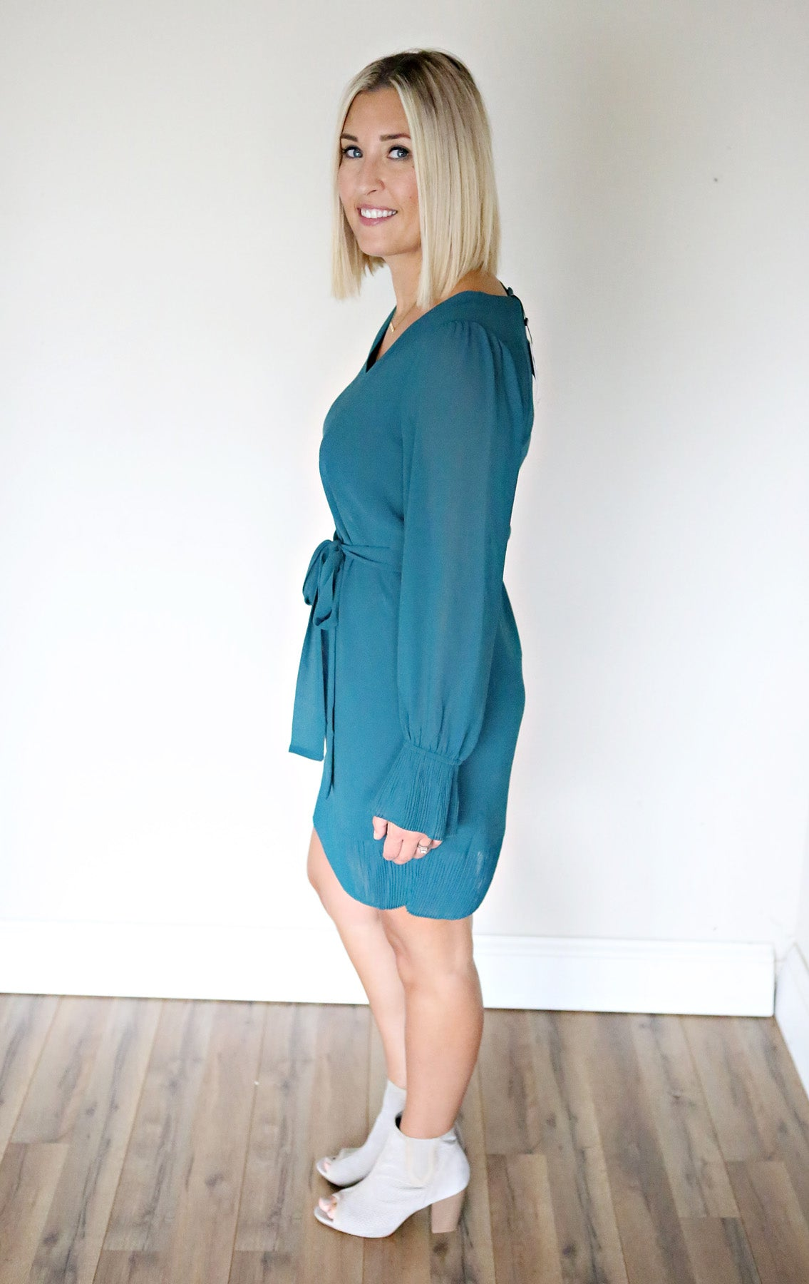 Eden Dress - Green - Gray Monroe
