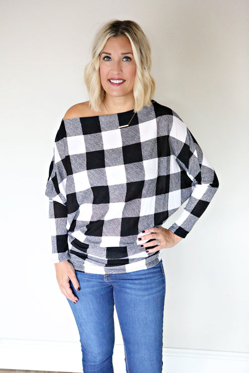 Kori Top - Black - Gray Monroe