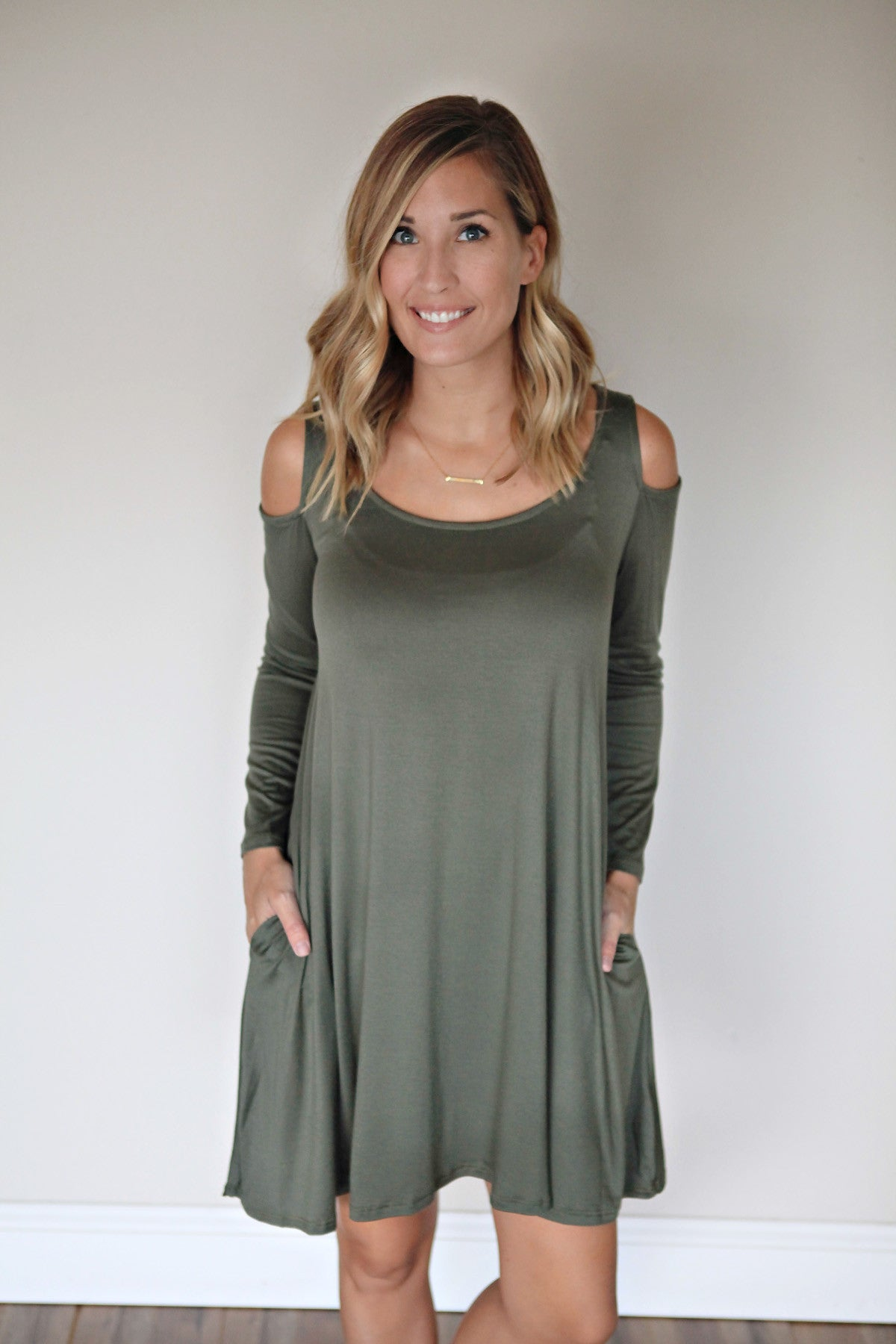 Langley Dress - Olive - Gray Monroe