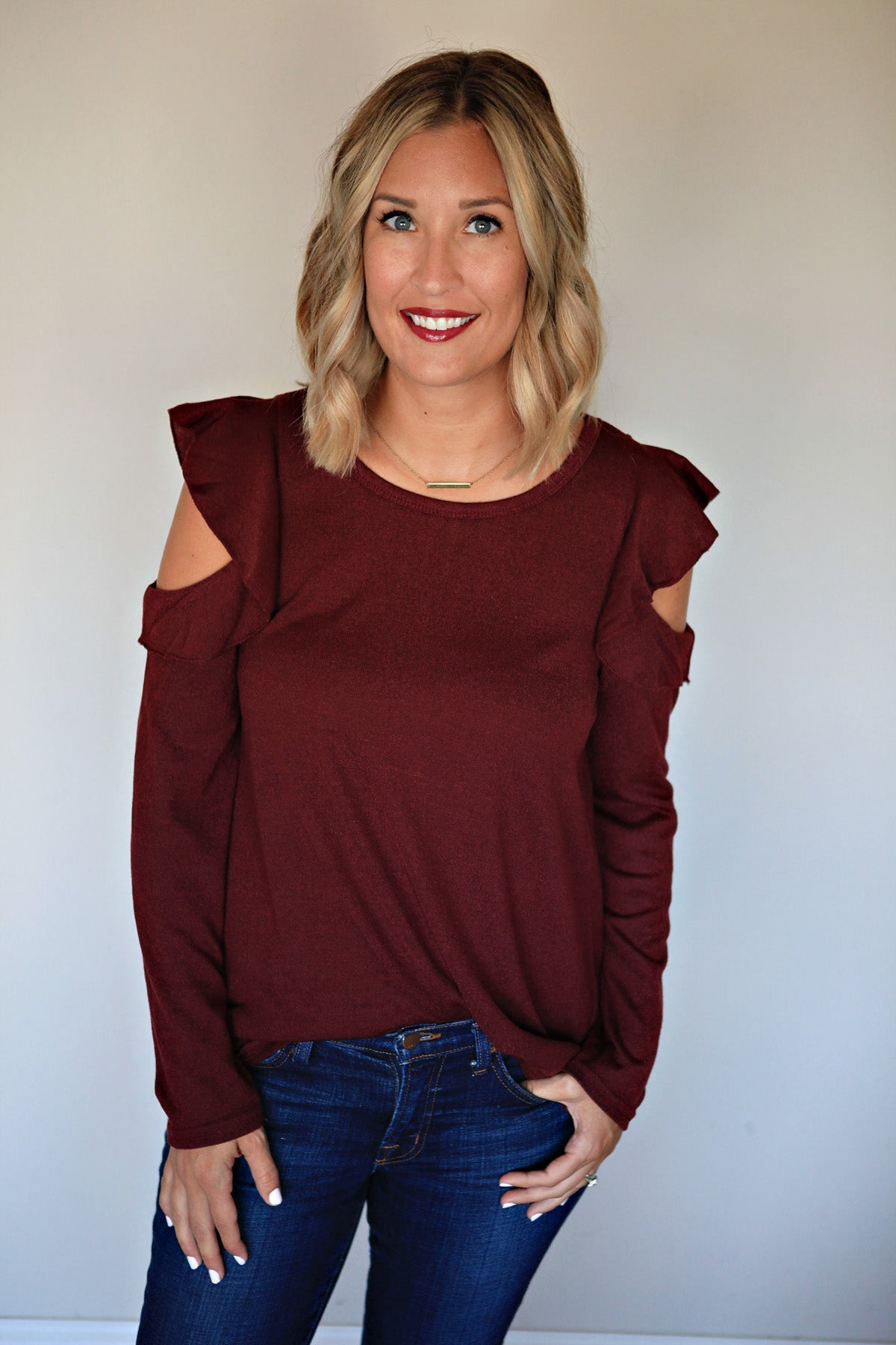 Christy Top - FINAL SALE - Gray Monroe