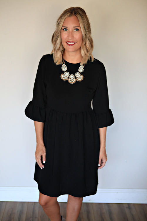 Mallory Dress - Black - Gray Monroe