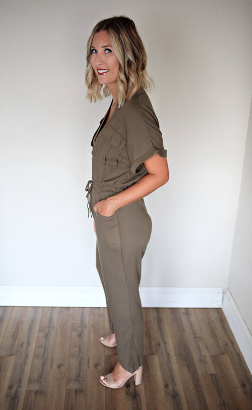 Ellie Jumpsuit - Gray Monroe
