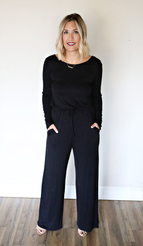 Isabella Jumpsuit - Black - Gray Monroe