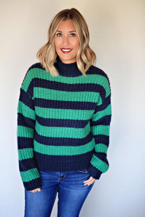 Rugby Sweater - FINAL SALE - Gray Monroe