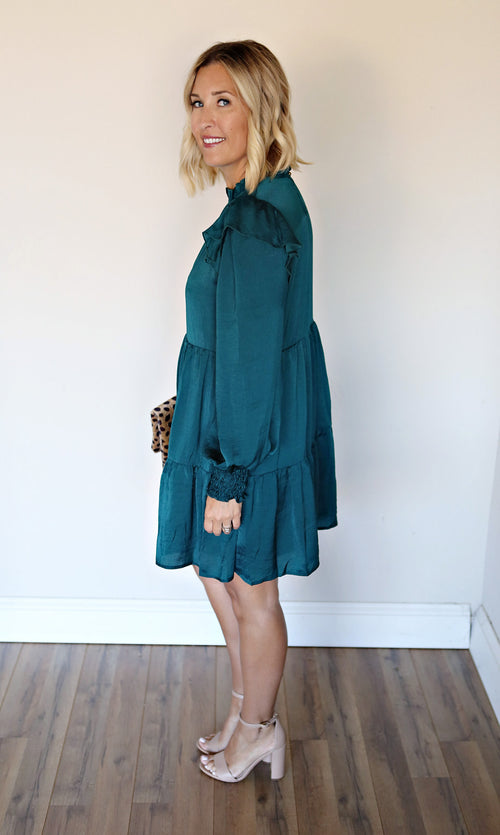 Cassidi Dress - Green - Gray Monroe