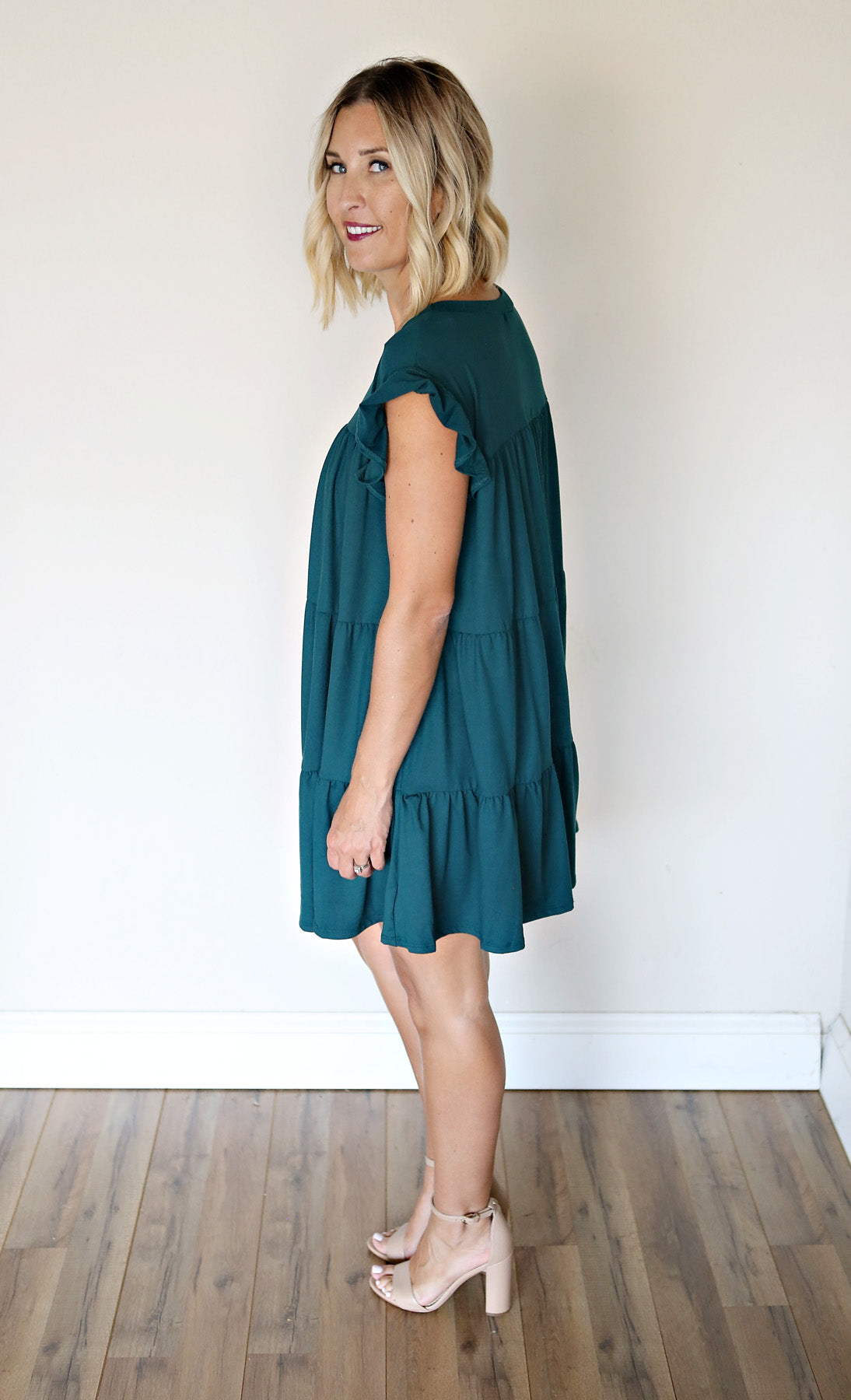 Charlotte Dress - Green - Gray Monroe