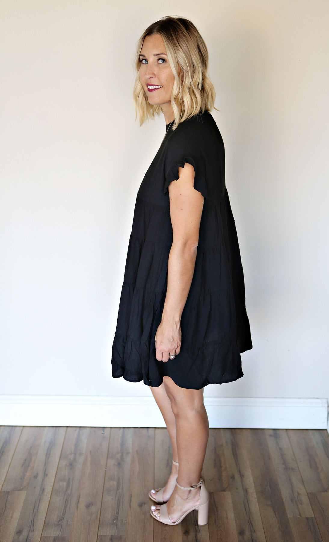 Dani Dress - Black - Gray Monroe