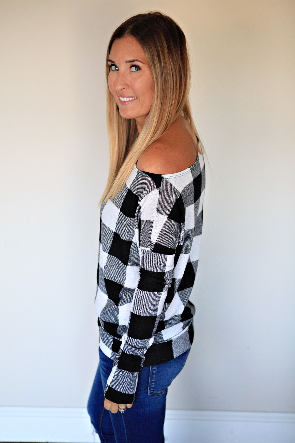 PRE-ORDER Veronica Top - Black/White - Gray Monroe