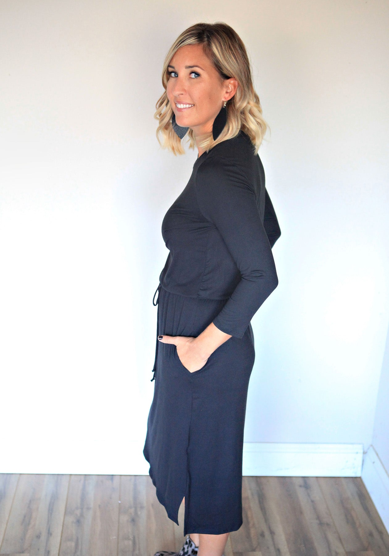 Brittany Dress - Black - Gray Monroe