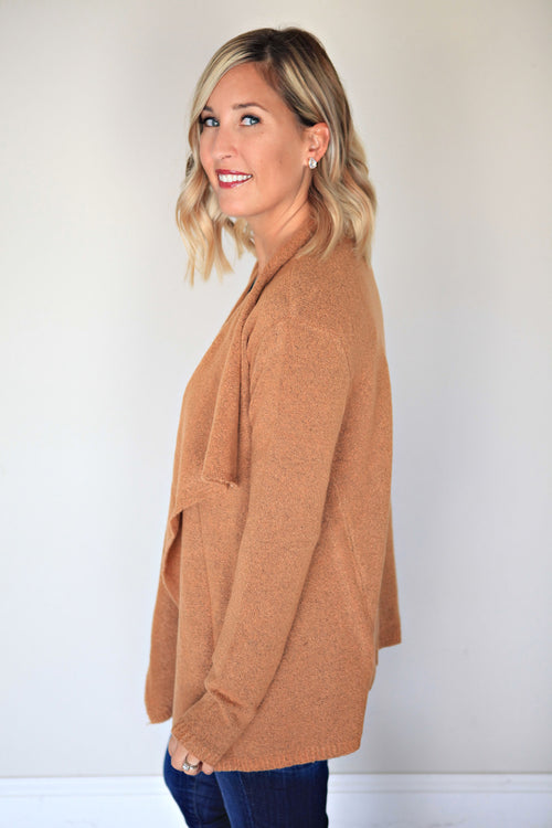 Brooks Cardigan - Camel - Gray Monroe