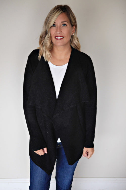 Brooks Cardigan - Black - FINAL SALE - Gray Monroe