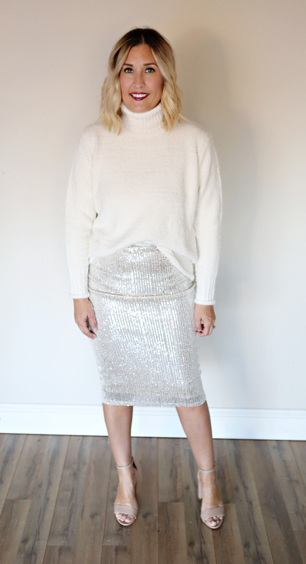 Holly Sequin Pencil Skirt