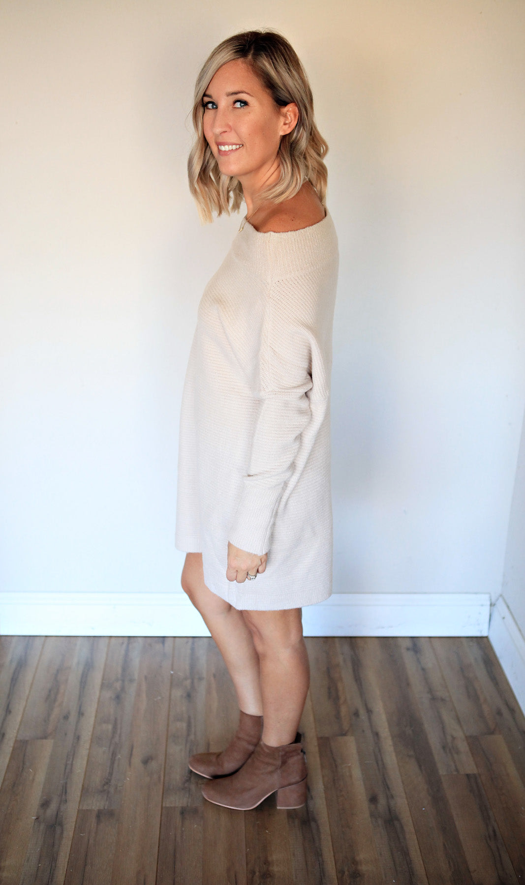 Devon Sweater Dress - FINAL SALE - Gray Monroe