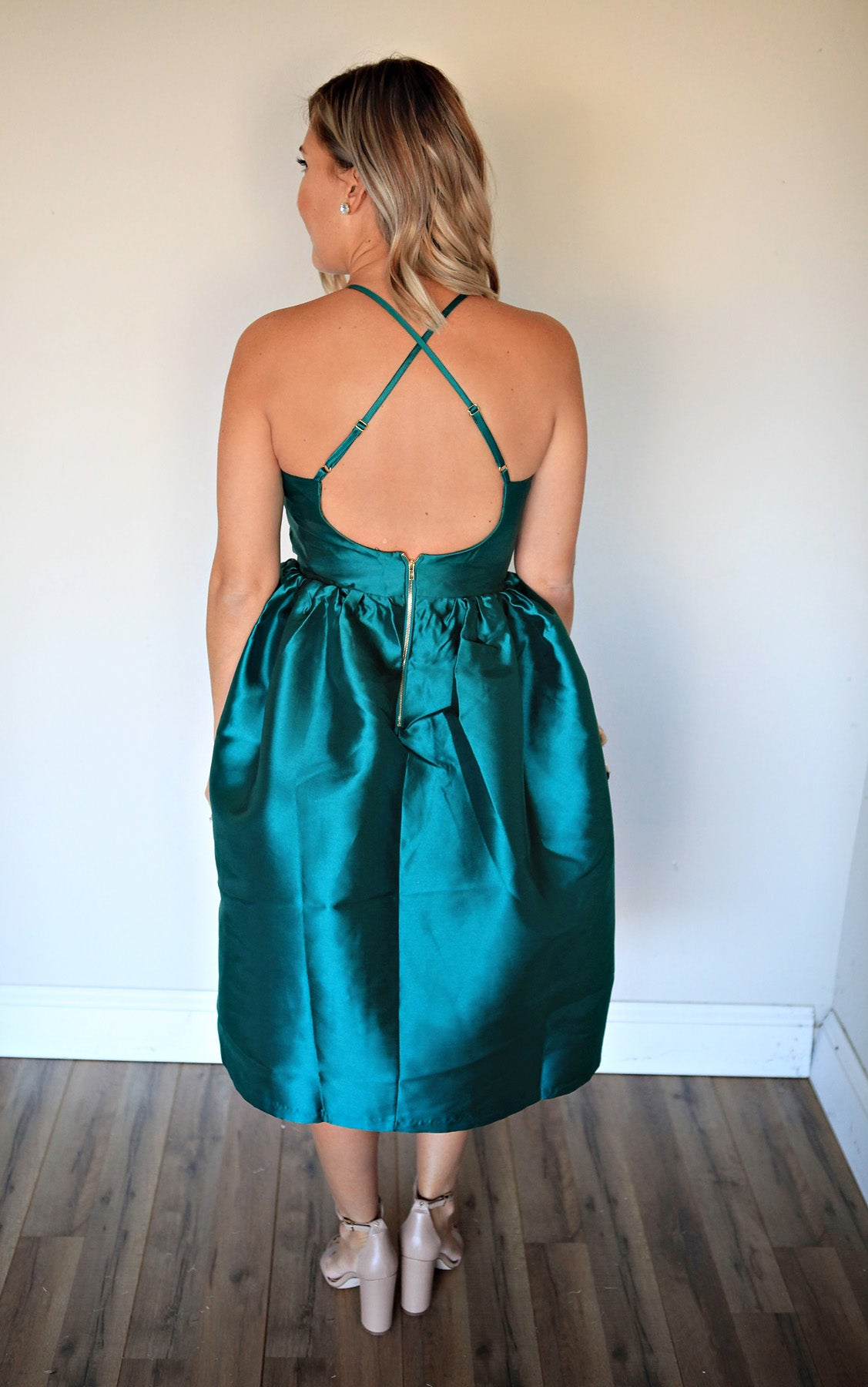 Belle Dress - Green - Gray Monroe