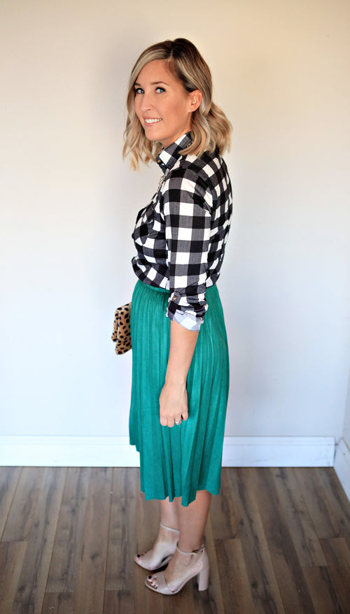 Joy Skirt - Green - Gray Monroe