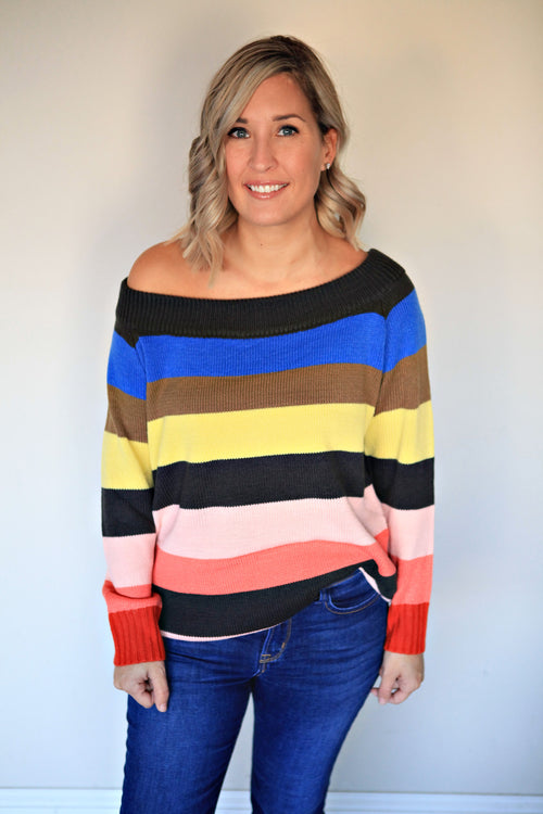 Rainbow Tunic - Gray Monroe