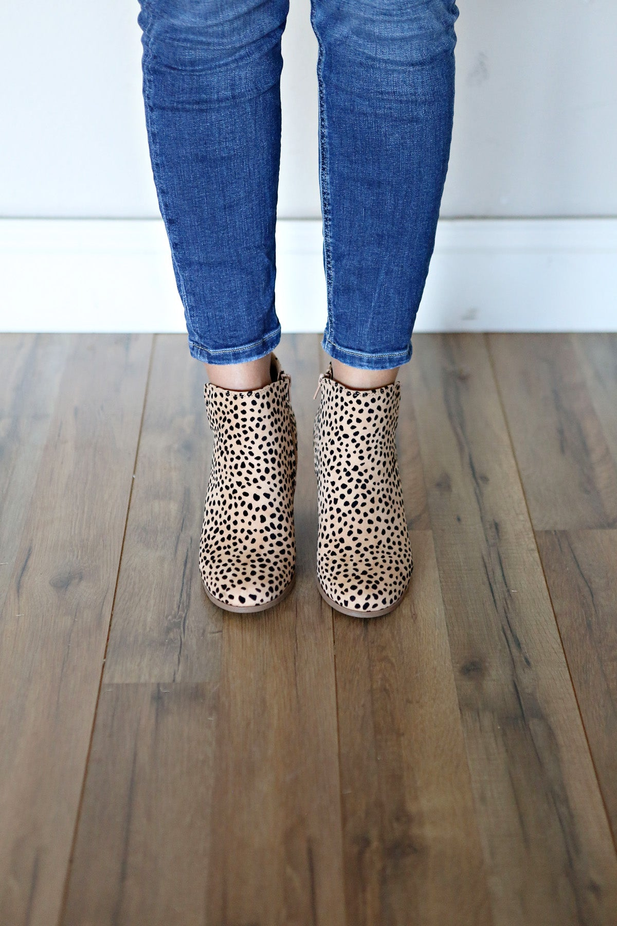 Leopard Wedge Booties - FINAL SALE