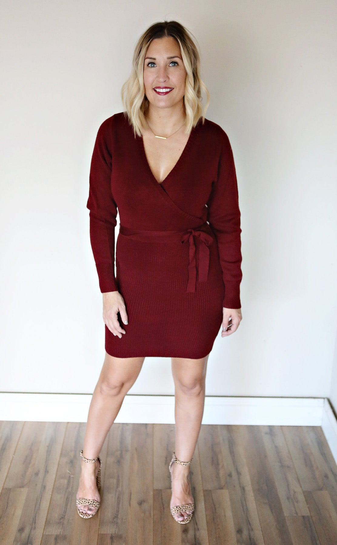 Beckham Dress - Wine - FINAL SALE