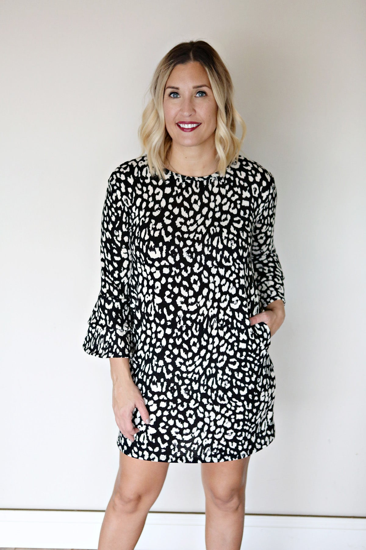Leopard Sweater Dress - FINAL SALE