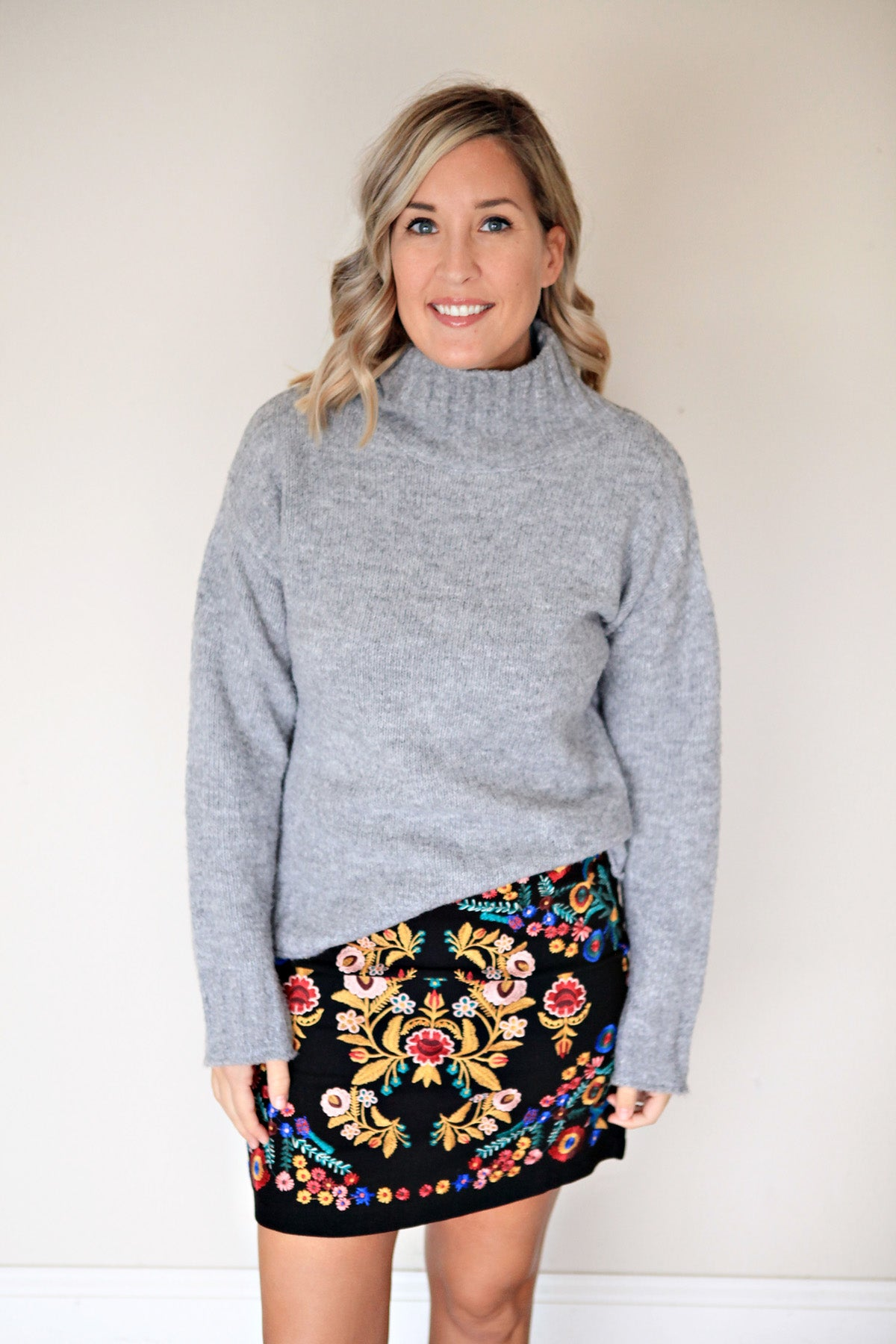 Harper Skirt - Gray Monroe