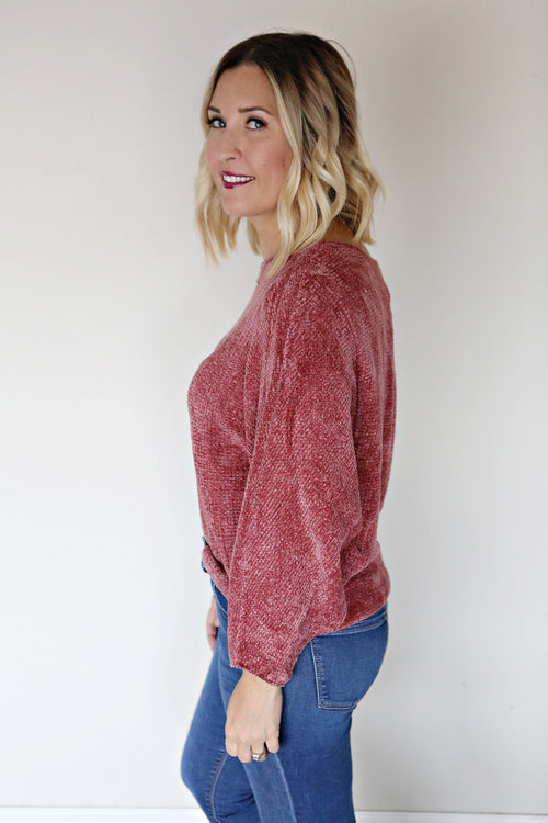 Bowen Chenille Sweater - Ginger