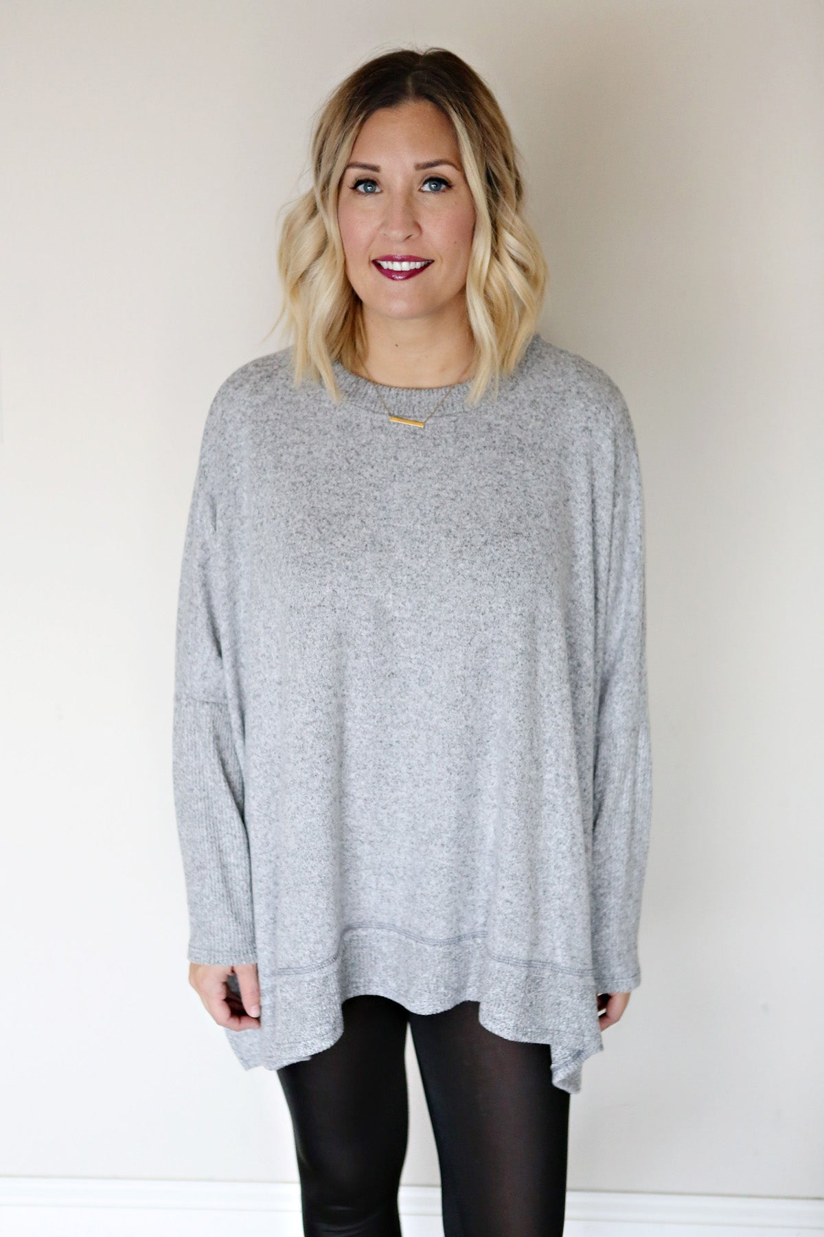 Lindon Top - Grey - FINAL SALE