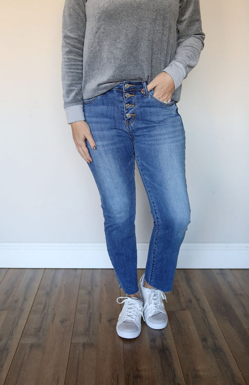 Dalynn Bootcut Crop Jeans - FINAL SALE