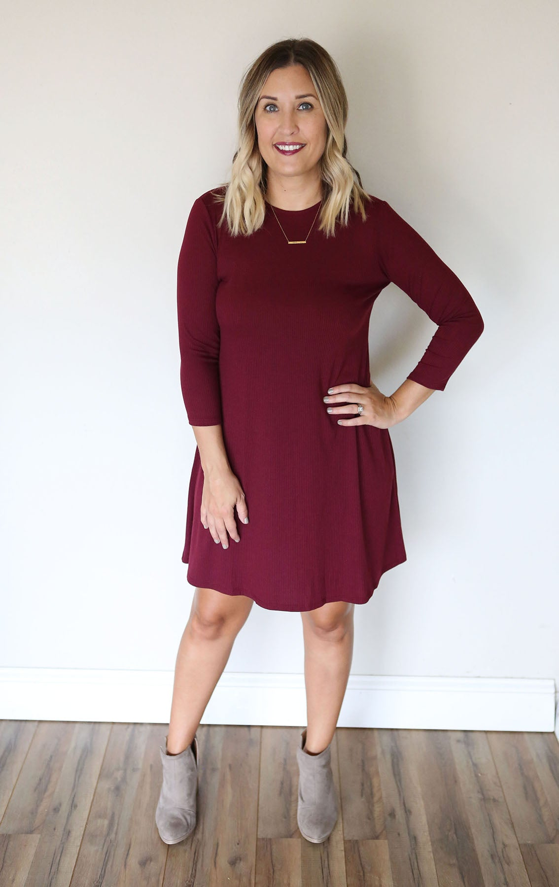 Deborah Dress - Wine