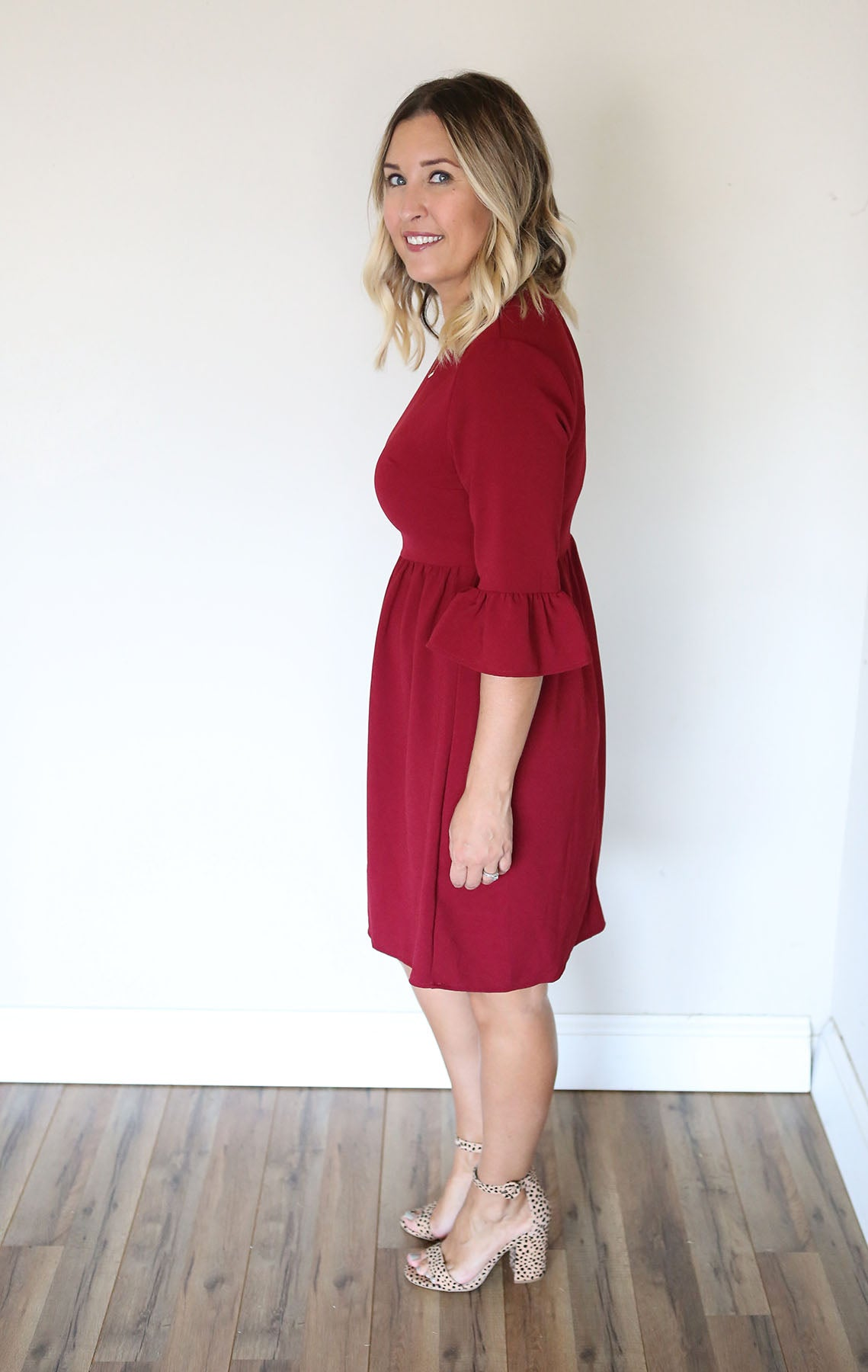 Mallory Dress - Wine - FINAL SALE