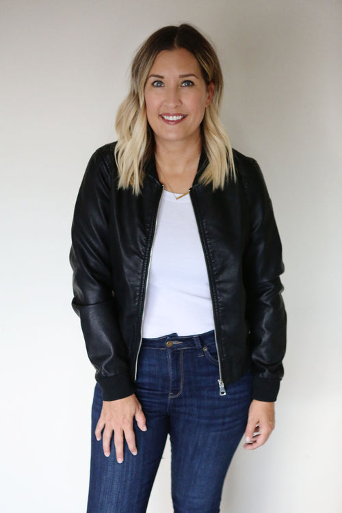 Meredith Faux Leather Jacket
