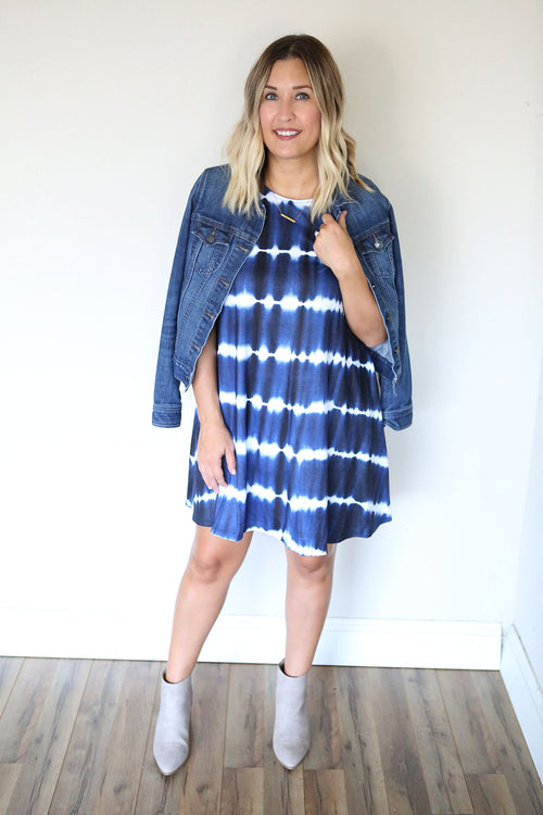 Pepper Dress - Navy (TAKE 75% OFF WITH CODE 'FALLBREAK')
