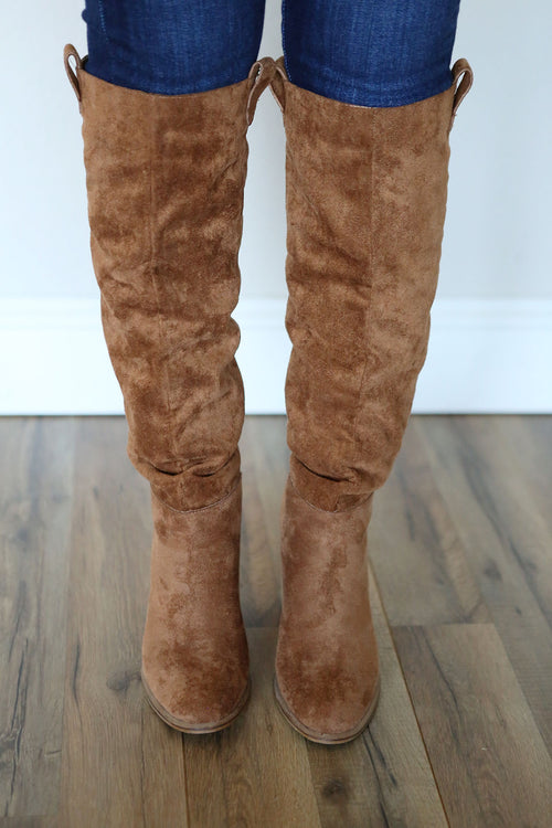 Saint Slouch Boots - Camel - FINAL SALE