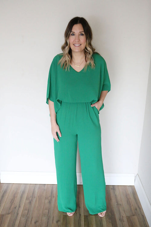 Susie Jumpsuit - Kelly Green