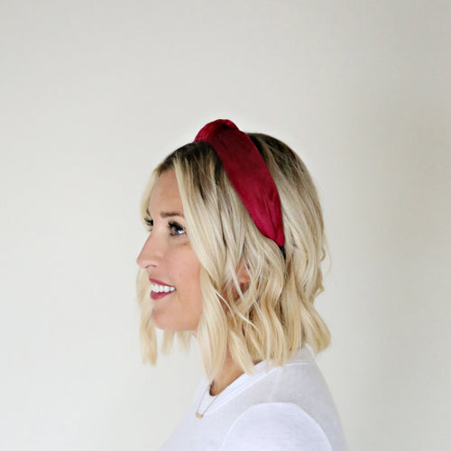 Velvet Headband - Wine - Gray Monroe